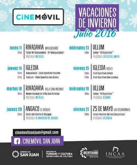 Cine Móvil en Vacaciones de Invierno