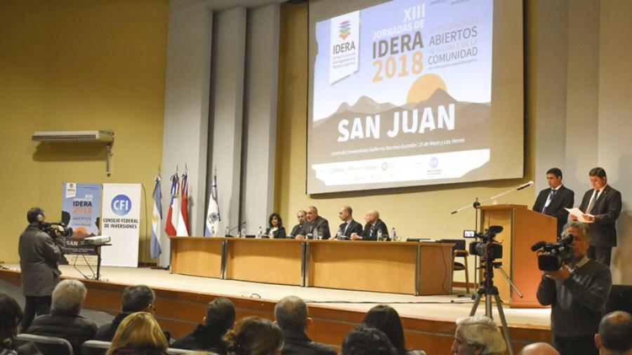 Quedaron inauguradas las XIII Jornadas de Infraestructura de Datos Espaciales de la República Argentina