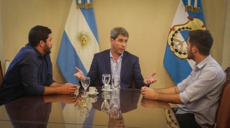Uñac recibió a representantes de La Cámpora