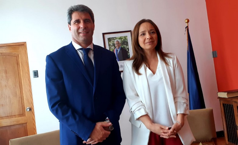 Uñac y la intendente de Coquimbo trataron diversos temas de interés común