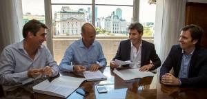 Firma de convenio con Transporte y Vialidad Nacional para ejecutar distintas obras