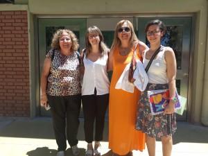 Visitaron el Ministerio de Salud dos enfermeras pasantes de España