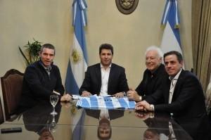 Visita de responsables de la Copa Argentina