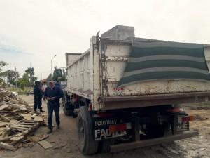 Ambiente infraccionó a un chofer por transporte de residuos sin habilitación