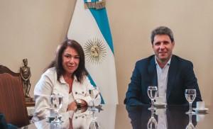 """Olga Riutort, con Uñac: """"San Juan creció mucho en estos últimos años"""""""