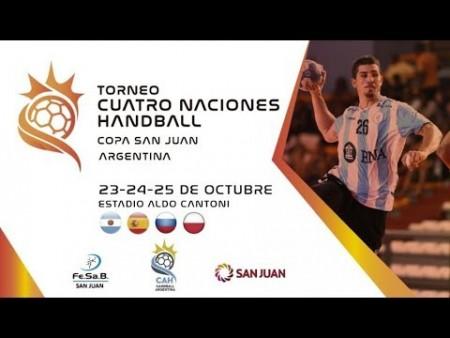 Arranca el Cuatro Naciones de Handball: seguí en vivo Polonia vs España y Argentina vs Rusia