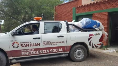 La Provincia asistió a 60 familias en dos departamentos afectados por las lluvias