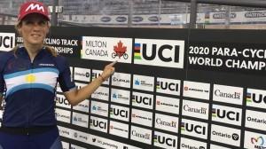 Majo Quiroga regresó a San Juan tras batir tres récords argentinos durante el Mundial