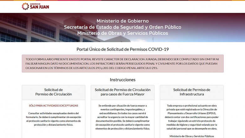 Nuevos permisos para circular en San Juan