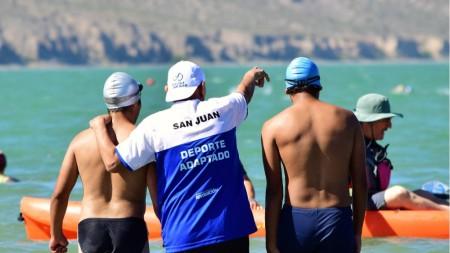 La natación adaptada sanjuanina, presente en los Juegos de Playa