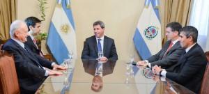 El gobernador Uñac recibió la visita de Daniel Dessein, presidente de ADEPA