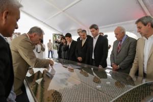 Uñac, en el puntapié inicial de la futura planta de aceite de oliva más grande de Latinoamérica