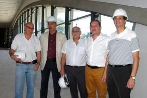 Visita de autoridades a la obra Teatro del Bicentenario