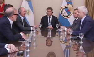 Sergio Uñac recibió a directivos de una empresa minera