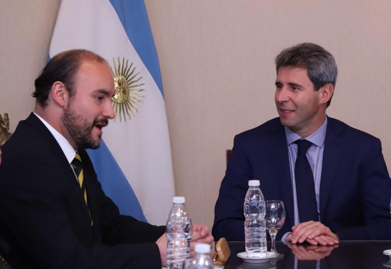 Uñac recibió al alcalde de Coquimbo, Marcelo Pereira Peralta