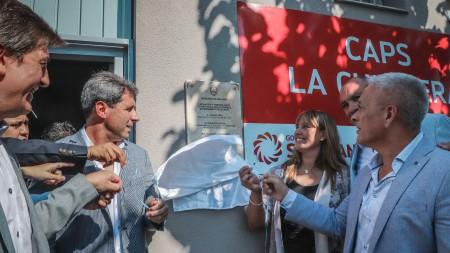 Uñac dejó inauguradas obras de refacción y remodelación en el Centro de Salud de La Chimbera