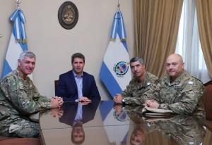 Uñac recibió el saludo del Comandante de la 2da División del Ejército