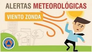Alerta meteorológica N° 45/19 - Viento Zonda (actualización)