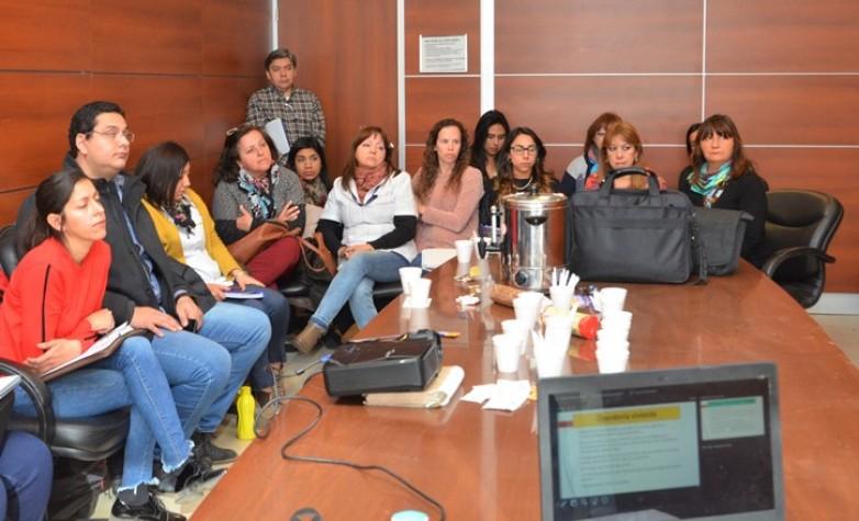 Reunión de Trabajadoras Sociales de varias reparticiones públicas y privadas con funcionarios del INAISA, para instrumentar la normativa de adhesión a la ley nacional de trasplantados