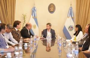 Uñac recibió al nuevo directorio de la Federación Económica de San Juan