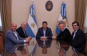 Uñac recibió al exdiputado nacional Mario Oporto