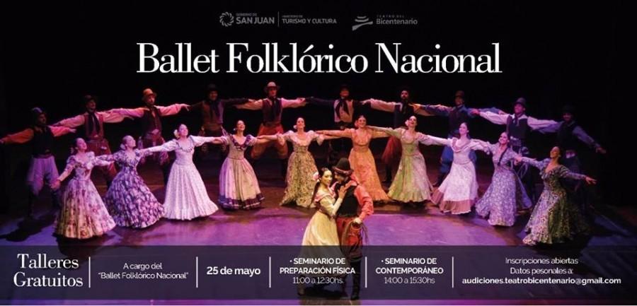 El Ballet Folclórico Nacional dictará dos talleres gratuitos