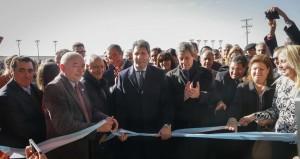 Uñac inauguró el Centro Ambiental Anchipurac y colocó la piedra basal del PITAR