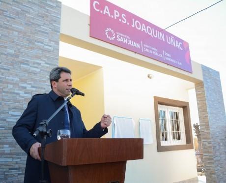 Inauguración de pavimento y centro de salud en Pocito