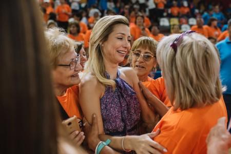 La primera dama participó de una actividad que congregó a más de 2.000 chicos