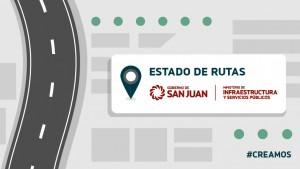Estado de rutas provinciales 20/02-11hs.