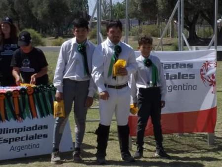 Estudiantes sanjuaninos hicieron podio en equitación, en el Selectivo de Olimpíadas Especiales