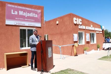 Sergio Uñac inauguró un CIC en La  Majadita, Valle Fértil