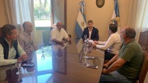 Uñac se reunió con integrantes del Centro Comercial de la Ciudad de San Juan