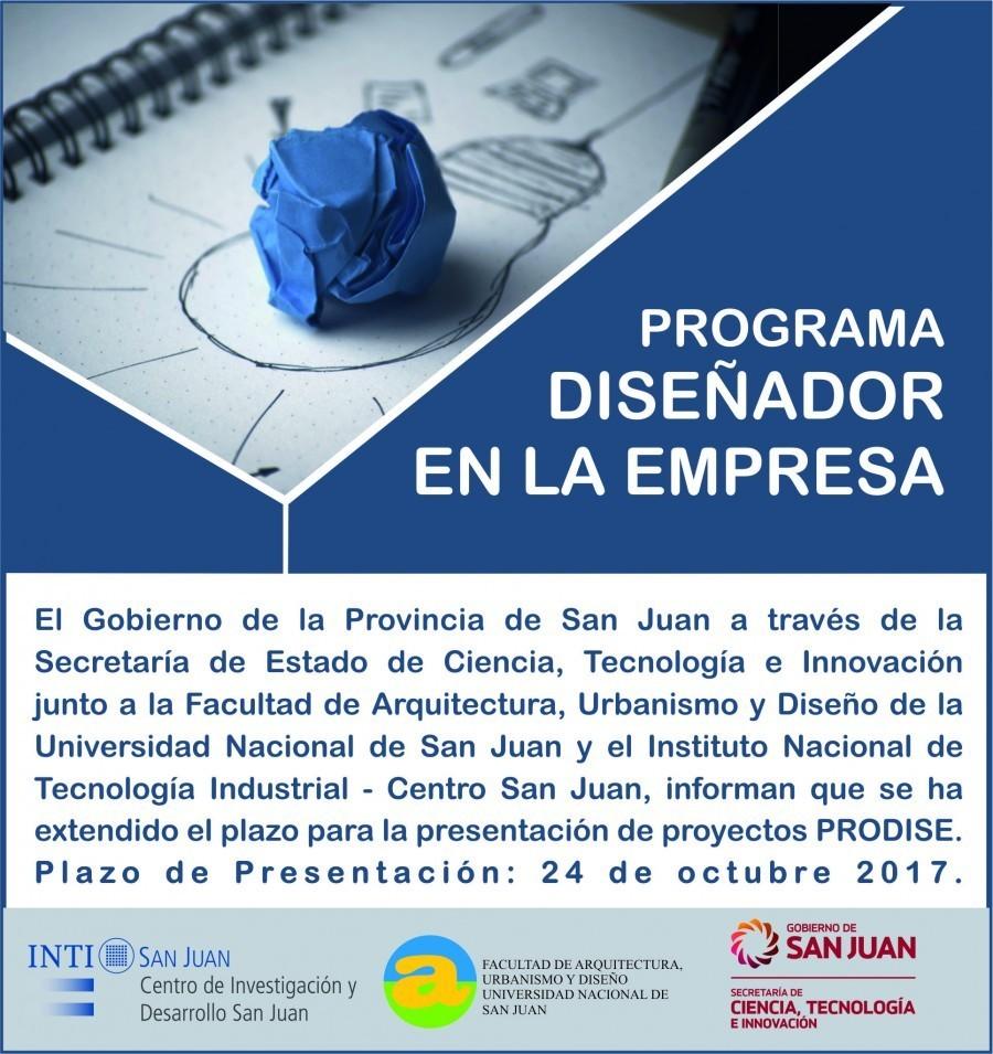Programa Diseñador en la Empresa: Nuevo plazo para la presentación de proyectos