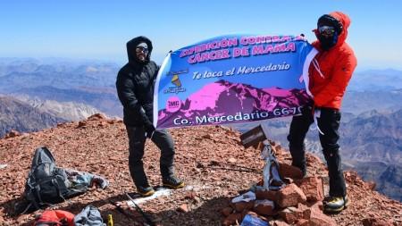 """""""Te toca el Mercedario"""", la expedición que escaló 6.770 metros por el cáncer de mama"""