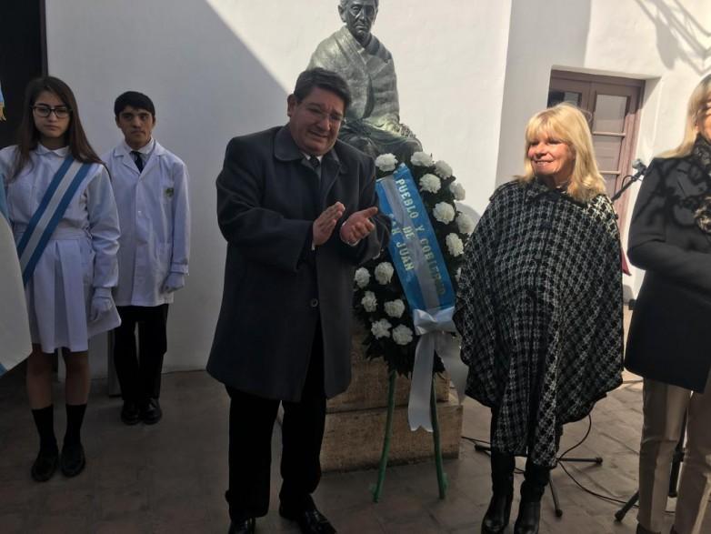 José Clemente Sarmiento y Paula Albarracín tuvieron su homenaje en la Semana Sarmientina