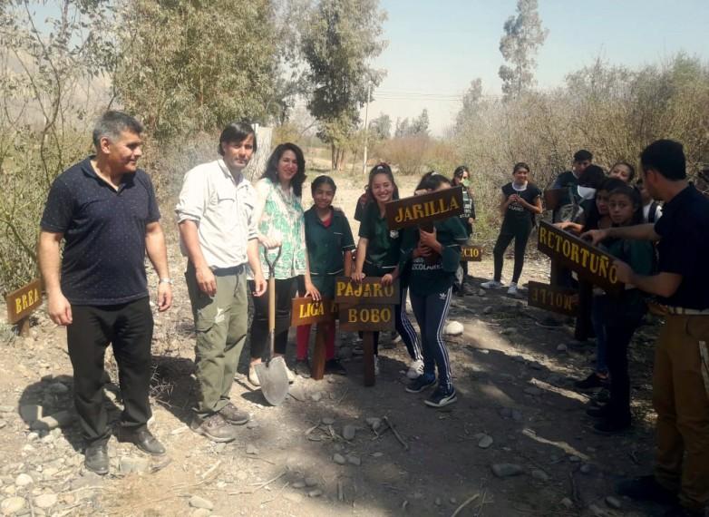 Alumnos de Zonda realizaron cartelería para Parque Sarmiento