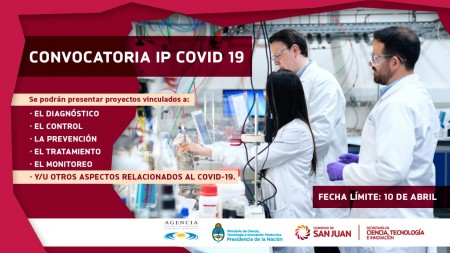 Se lanzó la convocatoria de Ideas - Proyectos COVID-19