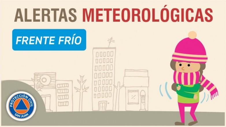 Alerta meteorológica Nº 34/19 - Frente frío