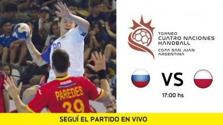 Cuatro Naciones de Handball: mirá en vivo Rusia vs Polonia