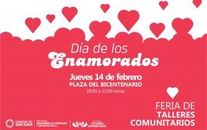 El 14 de febrero se festeja con la tradicional feria de Talleres Comunitarios