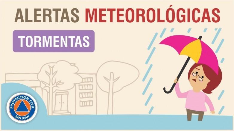 Alerta meteorológica Nº 14/19 - Tormentas y viento sur