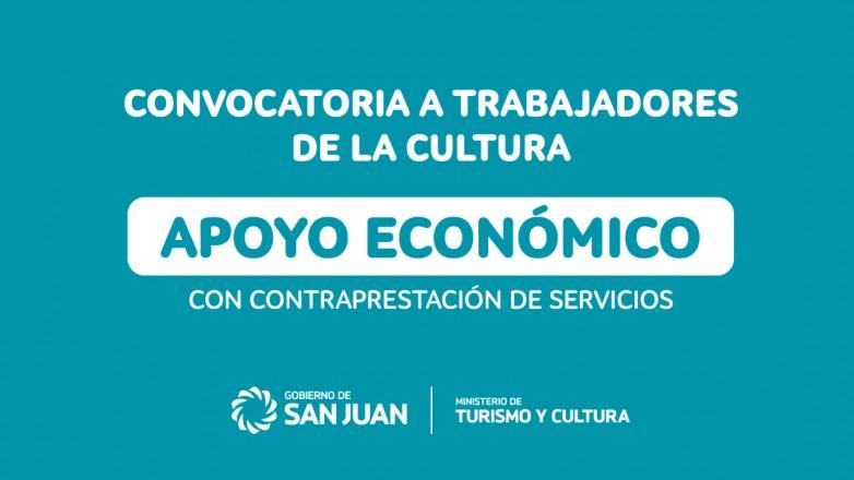 Trabajadores de la cultura sanjuanina podrán acceder a un apoyo económico