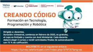 Convocan a docentes a inscribirse en Formación en Tecnología, Programación y Robótica
