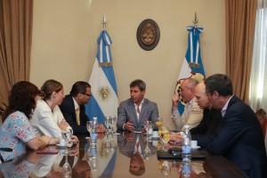 Misión del Banco de Desarrollo de América Latina visitó al gobernador Uñac