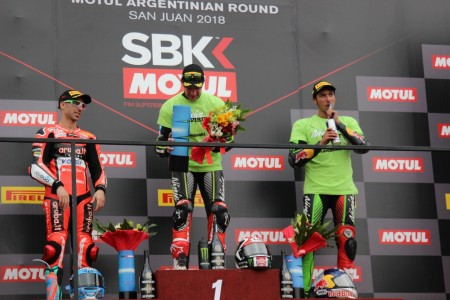 El tetracampeón del Superbike Jonathan Rea dio cátedra en el Circuito San Juan Villicum