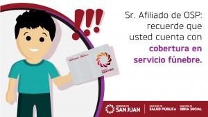 Los afiliados de Obra Social Provincia cuentan con servicio de sepelio