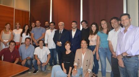 Jóvenes de la Unión Industrial se reunieron con el ministro Díaz Cano