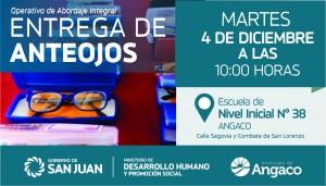 En Angaco, más de 500 personas recibirán sus anteojos