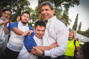 El gobernador Uñac recibió la visita de Los Dinos, el equipo de rugby inclusivo